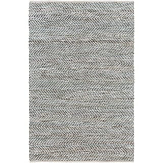 Hand-Woven Aylsham Stripe Indoor Jute Area Rug (4 x 6 - Silver)