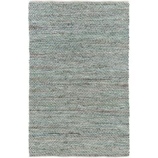Hand-Woven Aylsham Stripe Indoor Jute Area Rug (4 x 6 - Green)