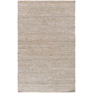 Hand-Woven Aylsham Stripe Indoor Jute Area Rug (4 x 6 - Grey)