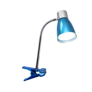 LimeLights Flashy Flexible Gooseneck 3-watt LED Clip Light Desk Lamp Metallic