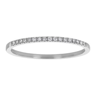 14k Gold 1/12 carat Real Diamonds Anniversary Band Ring - White H-I