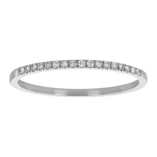14k Gold 1/12 carat Real Diamonds Anniversary Band Ring - White H-I (More options available)