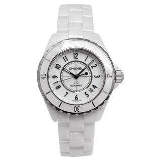Chanel Women's H0970 J12 Round White Ceramic Bracelet Watch