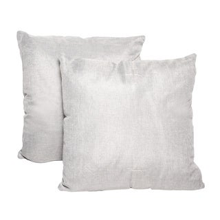 Grey 16-inch Throw Pillows (Set of 2)