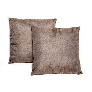 Dark Brown 16-inch Throw Pillows (Set of 2)