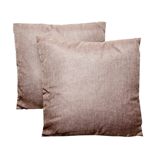 Brown 16-inch Throw Pillows (Set of 2)