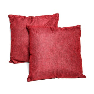 Red 16-inch Throw Pillows (Set of 2)