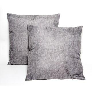 dark grey 16inch throw pillows set of 2