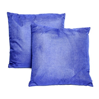 Blue Polyester 16-inch Throw Pillows (Set of 2)