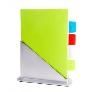 Color Coded Chopping Board with Stand 5-piece Set