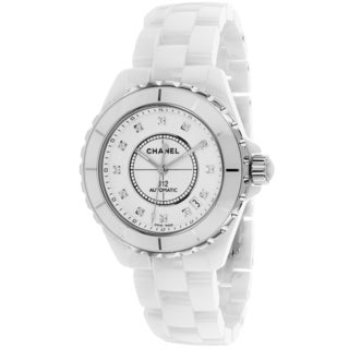 Chanel Women's H1629 J12 Automatic Round White Ceramic Bracelet Watch
