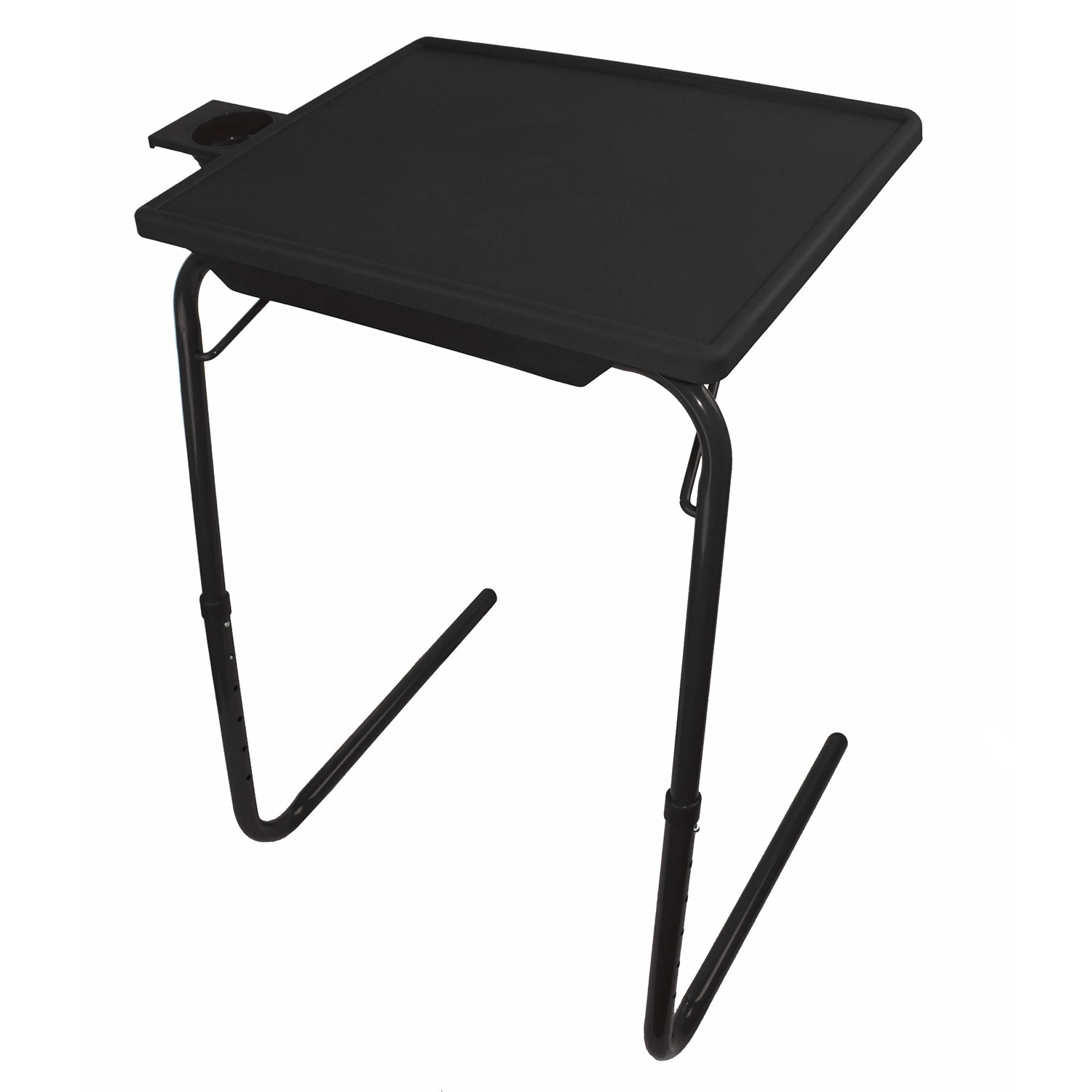 portable foldable tv tray table laptop eating stand w adjustable tray ebay. Black Bedroom Furniture Sets. Home Design Ideas