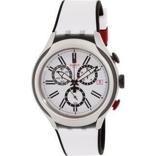 Swatch Men's Irony YYS4005 Silver Rubber Swiss Quartz Watch