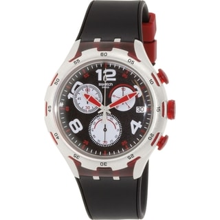Swatch Men's Irony YYS4004 Silver Rubber Swiss Quartz Watch