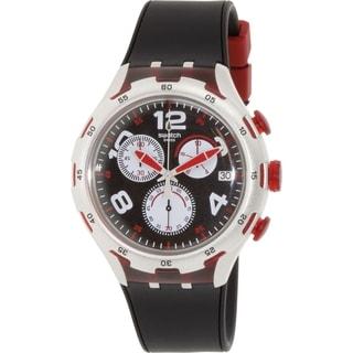Swatch Men's Irony YYS4004 Silver Rubber Swiss Quartz Watch