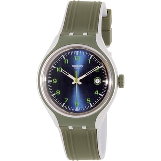 Swatch Men's Irony YES4004 Olive Rubber Swiss Quartz Watch