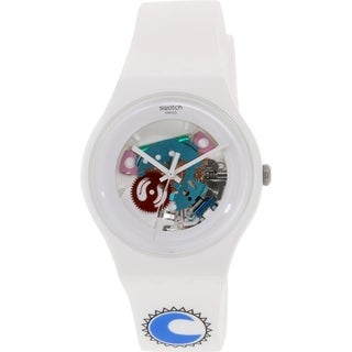 Swatch Women's Originals SUOW100D White Rubber Swiss Quartz Watch
