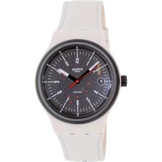 Swatch Men's Originals SUTM400 Beige Rubber Swiss Automatic Watch