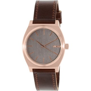Nixon Men's Time Teller A0452001 Rose Gold Leather Quartz Watch