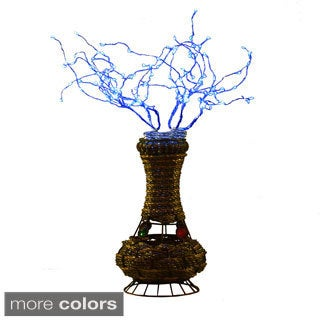 "20"" H Copper Tree Wire Table Lamp w/ LED"