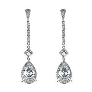 Sterling Silver Cubic Zirconia Dangling Earrings