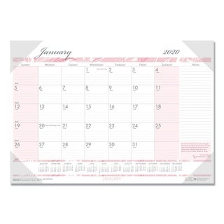 House of Doolittle Recycled Breast Cancer Awareness Monthly Desk Pad Calendar, 22 x 17, 2018