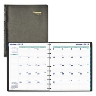 Blueline MiracleBind 17-Month Academic Planner, Soft Cover, 11 x 9 1/16, Black, 2017-2018