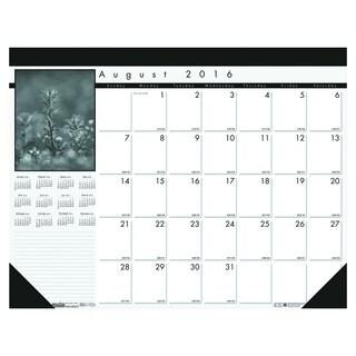 House of Doolittle 2016 - 2017 Black-on-White Academic Desk Pad Calendar