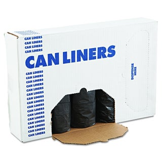 Boardwalk Black 60 gal Low-Density Can Liners (4 Rolls of 25 Liners)