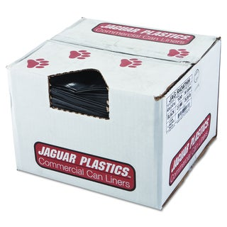 Jaguar Plastics Black Repro Low-Density Can Liners (Pack of 100 Liners)
