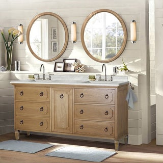 Weathered Light Brown Sink Vanity with Matching Granite WLF6060 (no faucet and no mirror)