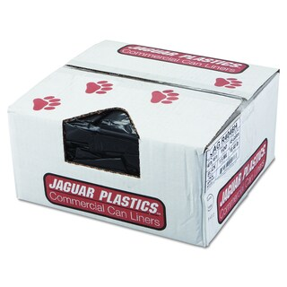 Jaguar Plastics Black, 40 x 46, Repro Low-Density Can Liners (Pack of 100 Liners)
