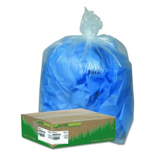 Earthsense Commercial Clear 40-45gal Recycled Can Liners (Pack of 100 Liners)