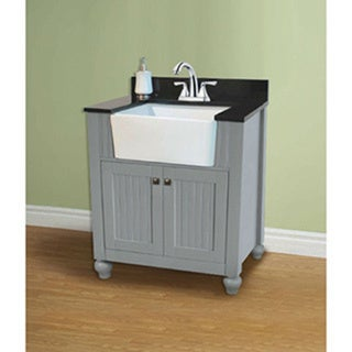 Legion furniture 30 inch grey single single sink vanity for Legion furniture 30 inch bathroom vanity