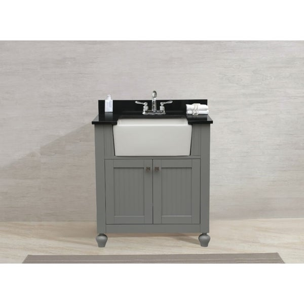 Legion furniture 30 inch bathroom vanity in grey with for Legion furniture 30 inch bathroom vanity