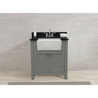 Legion Furniture 30-inch Grey Single Single Sink Vanity