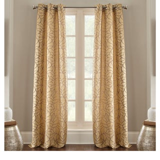Pencil Leaf Jacquard Curtain Sets (Pack of 2)
