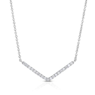 Eloquence 14k white gold Chevron Fashion Pendant (H-I, I1-I2)