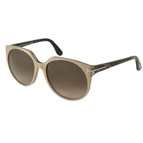 3231ed18dd73 Shop Tom Ford Women s TF370 Agatha Rectangular Sunglasses - Free ...