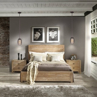 Grain Wood Furniture Montauk Solid Wood Driftwood Finish Full Panel Bed