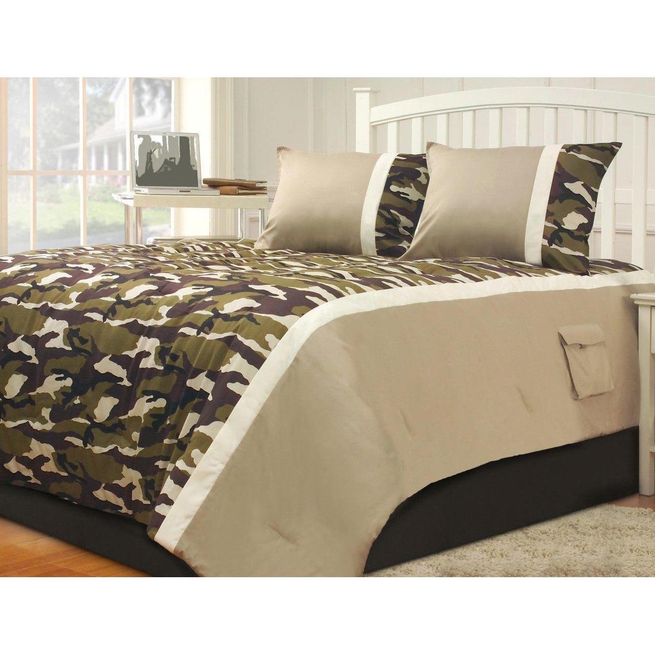 Hallmart Collectibles Camouflage King 3-piece Comforter S...
