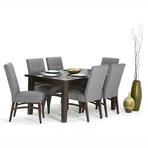 WYNDENHALL Colburn Solid Hardwood and Rubberwood 66 inch x 40 inch Rectangle Contemporary Dining Table in Java Brown