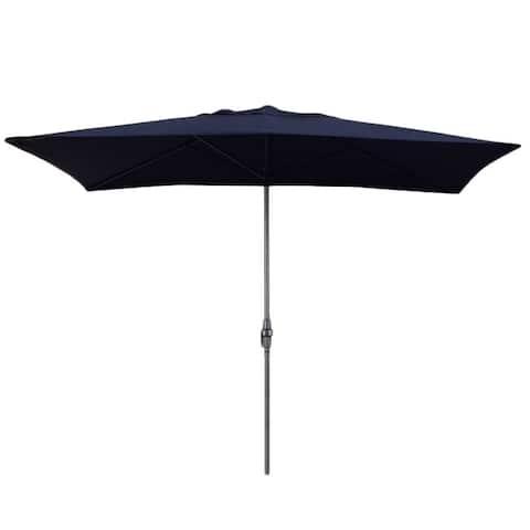 Escada Designs Navy Blue 6x10-foot Rectangular Patio Umbrella