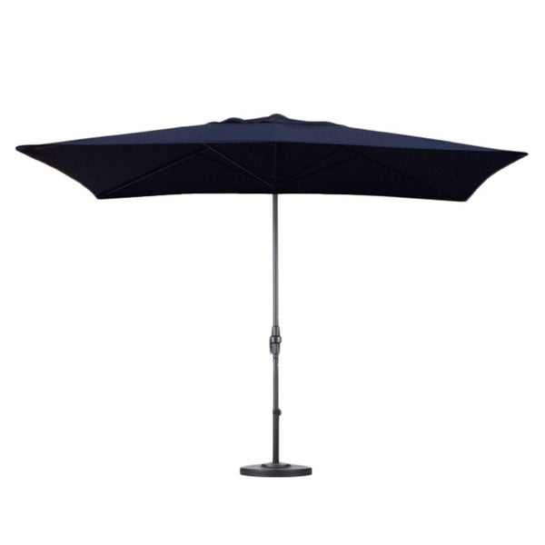 Escada Designs Navy Blue 6x10 Foot Rectangular Patio Umbrella With Stand