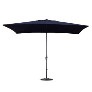Navy Blue 6x10-foot Rectangular Patio Umbrella with Stand