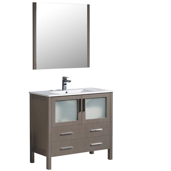 Fresca torino 36 inch espresso modern bathroom vanity with integrated