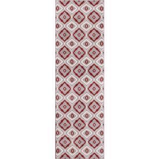 Modern Bold Lattice Runner Rug (2'3 x 7'3)