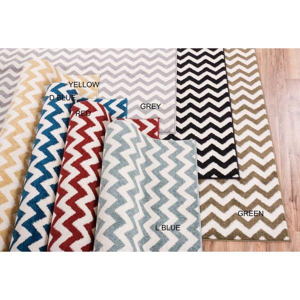 Chevron Stripe Rug: Shop Well Woven Modern Chevron Geometric Zigzag Stripe