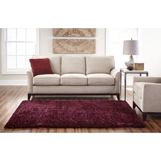 Spaces Eyelash Shag Maroon Area Rug 25 X