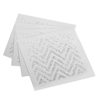 Allure Zig Zag Silver Coasters (Set of 4)